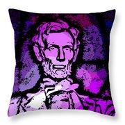 Purple Lincoln Throw Pillow