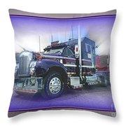 Purple Mack Abstract Throw Pillow