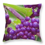 Purple Magical Spheres Throw Pillow