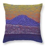 Purple Mountain Majesty Sunset Throw Pillow
