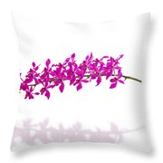 Purple Orchid Bunch Isolated Throw Pillow