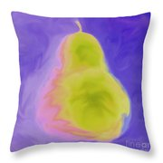 Purple Pearspective Throw Pillow