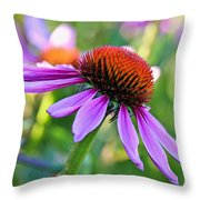 Purple Pedals Throw Pillow