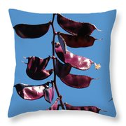 Purple Pods Throw Pillow