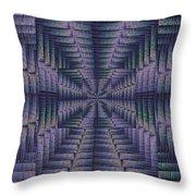 Purple Portal Throw Pillow