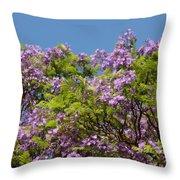 Purple Prelude Throw Pillow