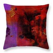 Purple Rain I Throw Pillow
