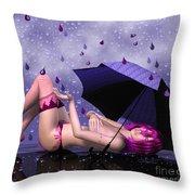 Purple Rain Throw Pillow by Jutta Maria Pusl