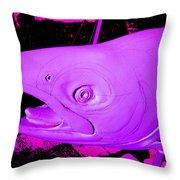 Purple Salmon Throw Pillow