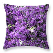 Purple Screen Square Throw Pillow
