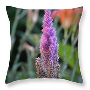 Purple Spear Throw Pillow