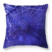 Purple Spiderweb Throw Pillow