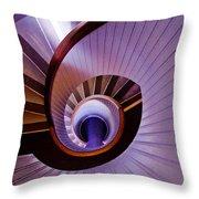 Purple Spiral Throw Pillow