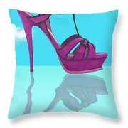 Purple Stilt Stilettos Reflections Throw Pillow