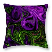 Purple Transformation Throw Pillow