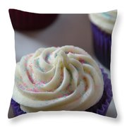 Purple Vanilla Throw Pillow