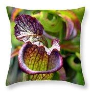 Purple Veins Throw Pillow