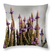 Purple Wildflowers  Throw Pillow