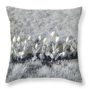 Pushing Tulips Throw Pillow