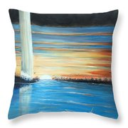 Put-in-bay Perry's Monument - International Peace Memorial  Throw Pillow