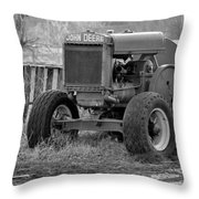 Put Out But Not Abandoned In Black-and-white Throw Pillow