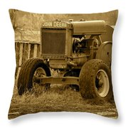 Put Out But Not Abandoned In Sepia Throw Pillow