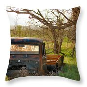Put Out To Pasture2 Throw Pillow