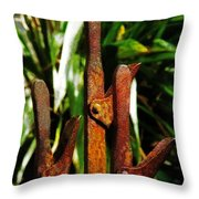 Putting On The Brakes Throw Pillow
