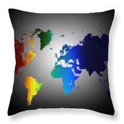 Puzzle World Treasure Map Throw Pillow