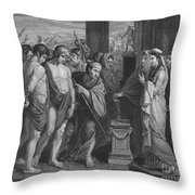 Pylades And Orestes Throw Pillow