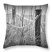 Pylons On The Beach Throw Pillow