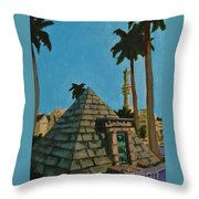 Pyramid Tomb In Cemetary Throw Pillow