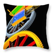 Pythagorean Machine Portrait 5 Throw Pillow