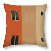 Q W School In Colors Throw Pillow