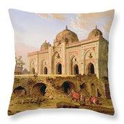 Qal' A-l-kuhna Masjid - Purana Qila Throw Pillow
