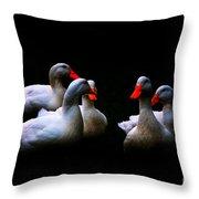 Quackery Quintet Throw Pillow