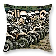 Quad Racers Throw Pillow