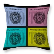 Quad Twos In Colors Throw Pillow