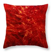 Quadra-18-red Throw Pillow