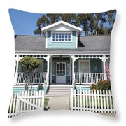 Quaint House Architecture - Benicia California - 5d18817 Throw Pillow
