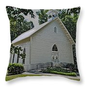 Quaker Church Pencil Throw Pillow