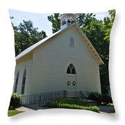 Quaker Church Throw Pillow by Scott Hervieux
