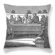 Quaker Marriage, 1842 Throw Pillow