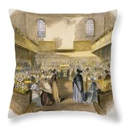 Quaker Meeting, 1843 Throw Pillow by Granger