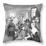 Quaker Meeting, 1888 Throw Pillow