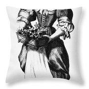 Quaker Woman, 17th Century Throw Pillow