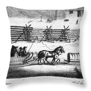 Quakers Going To Meeting Throw Pillow