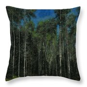 Quaking Aspens Throw Pillow