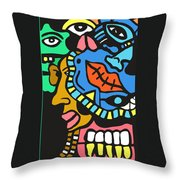 Quarter Of The Family Ties Throw Pillow