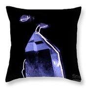 Quartz Crystal & Sparks Throw Pillow by Ted Kinsman